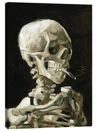 Toile  Skeleton with a burning cigarette - Vincent van Gogh