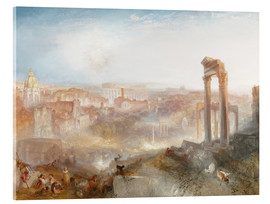 Tableau en verre acrylique  Rome Moderne - Joseph Mallord William Turner