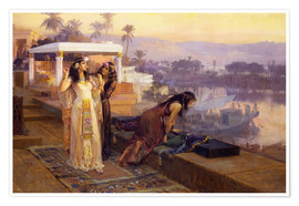 Poster  Cleopatra on the terraces of philae - Frederick Arthur Bridgman
