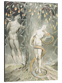 Tableau en aluminium  Adam et Ève - William Blake