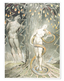 Poster  Adam et Ève - William Blake