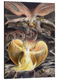 Tableau en aluminium  Le grand Dragon Rouge et la Femme vêtue de soleil - William Blake