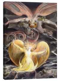 Toile  Le grand dragon rouge et la femme au soleil - William Blake
