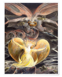 Poster  Le grand dragon rouge et la femme au soleil - William Blake