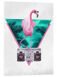 Verre acrylique  Miami Flamingo - Robert Farkas