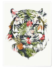 Poster Tigre tropical