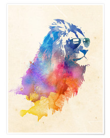 Poster  Lion coloré - Robert Farkas