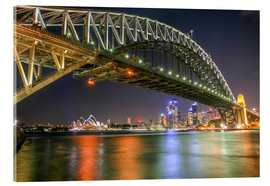Tableau en verre acrylique  Harbour Bridge, Sydney - Thomas Hagenau