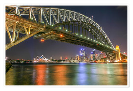 Poster  Harbour Bridge, Sydney - Thomas Hagenau
