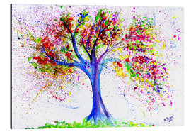 Alu-Dibond  Tree of Life Aquarell - M. Bleichner