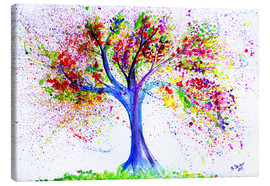 Toile  Tree of Life Aquarell - M. Bleichner