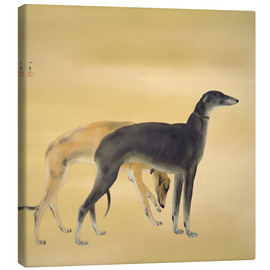 Tableau sur toile  Dogs from Europe - Hashimoto Kansetsu