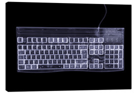 Tableau sur toile  Computer keyboard, simulated X-ray - Mark Sykes