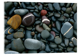 Tableau en verre acrylique  Pebbles on a beach - Keith Wheeler