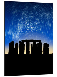 Tableau en aluminium  Star trails over Stonehenge - VICTOR HABBICK