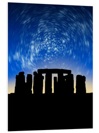 Tableau en PVC  Star trails over Stonehenge - VICTOR HABBICK