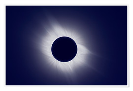 Poster Total solar eclipse at totality