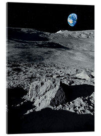 Verre acrylique  Earth from the Moon - Detlev van Ravenswaay