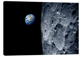 Toile  Earth from lunar orbit - Detlev van Ravenswaay