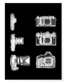 Poster  X-ray of a digital camera - PhotoStock-Israel
