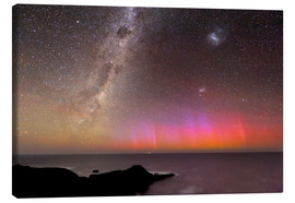 Tableau sur toile  Aurora australis and Milky Way - Alex Cherney