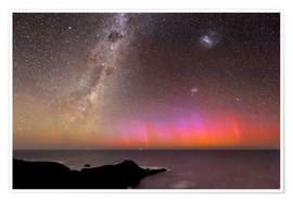 Poster  Aurora australis and Milky Way - Alex Cherney