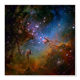 Poster  Eagle Nebula, optical image - Robert Gendler
