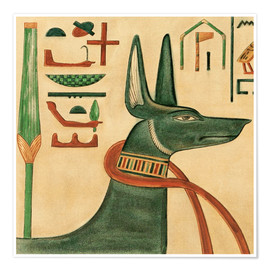 Poster  The Tomb of Siptah, Anubis - Ernest Harold Jones
