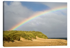 Toile  Rainbow over sand dunes - Duncan Shaw