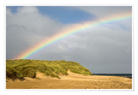 Poster  Rainbow over sand dunes - Duncan Shaw