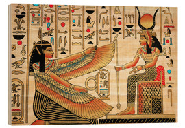 Bois  Papyrus with Egyptian characters