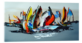 Verre acrylique  Abstract sailing - Theheartofart Gena
