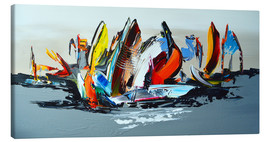 Toile  Abstract sailing - Theheartofart Gena