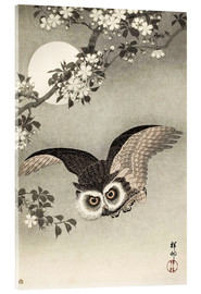 Verre acrylique  Owl in flight - Ohara Koson