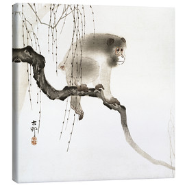 Tableau sur toile  Japanese macaque on a tree - Ohara Koson