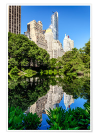 Poster  New York City - Central Park South (The Pond) - Sascha Kilmer