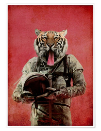 Poster  Space tiger - Durro Art