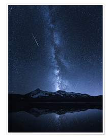 Poster  Galaxies Reflection - Toby Harriman