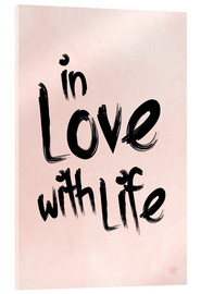 Verre acrylique  in love with life - m.belle