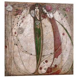 Tableau en PVC  La Rose blanche et la Rose rouge - Margaret MacDonald Mackintosh
