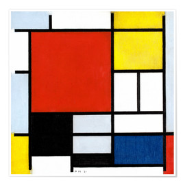 Piet Mondrian - Composition with Red, Yellow, Blue and Black
