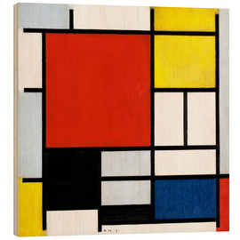 Bois  Composition with Red, Yellow, Blue and Black - Piet Mondrian