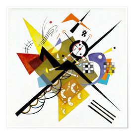 Poster  Sur blanc II - Wassily Kandinsky