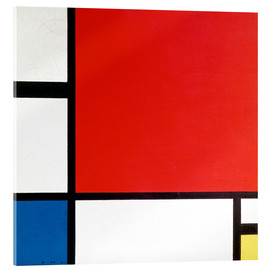 Verre acrylique  Composition with Red, Yellow and Blue - Piet Mondrian