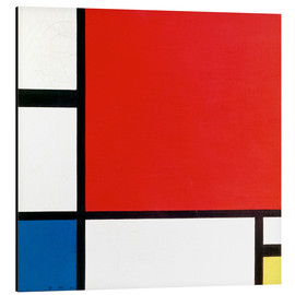 Alu-Dibond  Composition with Red, Yellow and Blue - Piet Mondrian
