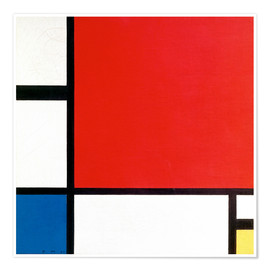 Poster  Composition with Red, Yellow and Blue - Piet Mondrian