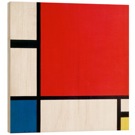 Bois  Composition with Red, Yellow and Blue - Piet Mondrian