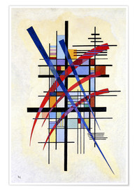 Poster  Signes avec accompagnement - Wassily Kandinsky