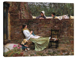 Tableau sur toile  Bavardages - John William Waterhouse