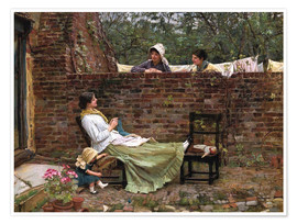 Poster  Bavardages - John William Waterhouse